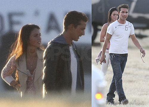 Photos of Shia LaBeouf and Megan Fox on the Set of Eagle Eye
