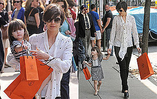 Photos of Katie Holmes and Suri Cruise Carrying Hermes Bags in NYC