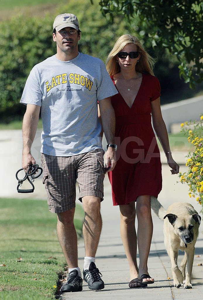 Jon Hamm Dog Walk