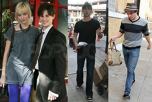 Photos of Taylor Momsen, Chace Crawford, Ed Westwick on the Set of Gossip Girl