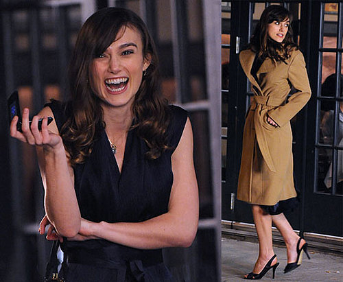 Photos of Keira Knightley on the Set of Last Night