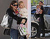 Photos of Ben Affleck and Jennifer Garner Bringing Violet to School in LA