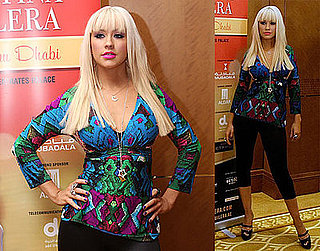 Photos of Christina Aguilera at a Press Conference in Abu Dhabi
