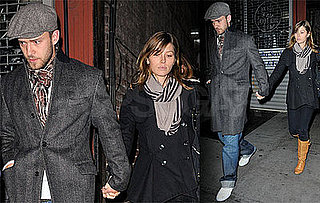 Justin Timberlake, Jessica Biel, Lynn Harless at Southern Hospitality in New York City