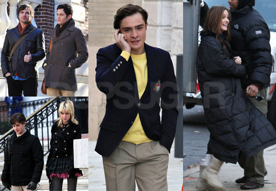 On Gossip Girl Set