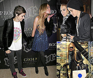 Photos of Lindsay Lohan and Samantha Ronson in London and Paris After Flour Thrown on Lindsay's Fur Coat