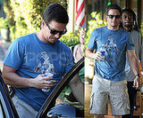 Mark Whalberg at Lunch in Blue