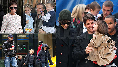Photos of The Beckham Family And The Cruise Family Together in NYC For Thanksgiving