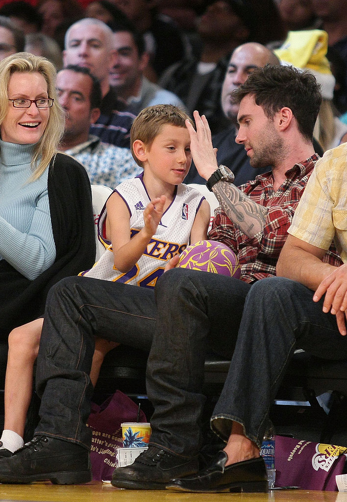 Celebs at Lakers Game