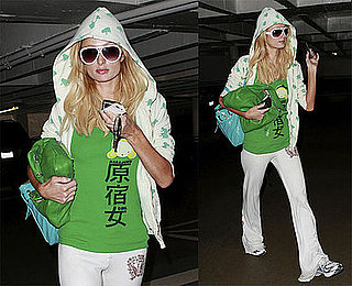 Photos of Paris Hilton in Green Leaving the Salon