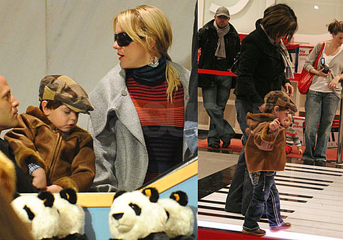 Photos of Britney Spears With Her Sons Sean and Jayden Toy Shopping at FAO Schwarz