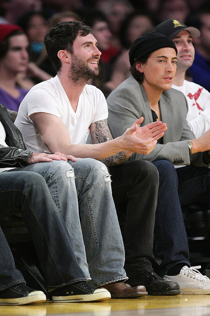 Beckham Lakers Game