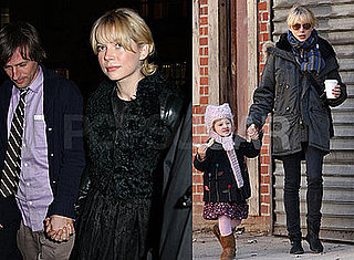Photos of Michelle Williams and Matilda Ledger Walking in Brooklyn