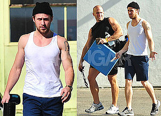 Photos of Ryan Gosling in a Tank at the Gym