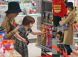 Katie, Tom and Suri Toy Shopping