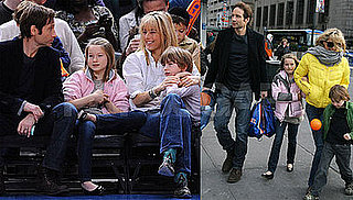 Photos of David Duchovny, Tea Leoni Together With Family at Knicks Game