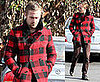 Ryan Gosling a Little Pouty in His Pretty Plaid Pea Coat