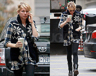 Photos of Michelle Williams Getting Coffee in NYC