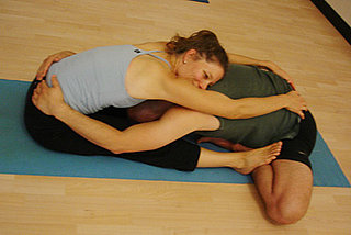 Partner Yoga Pose: Butterfly Supported Forward Bend