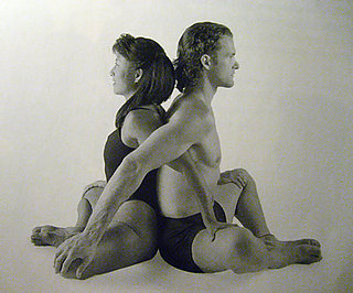 Partner Yoga Pose: Back-to-Back Butterfly