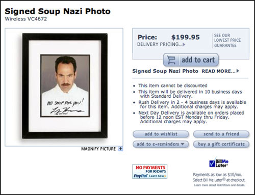 No Signed Soup Nazi Photo For Me!