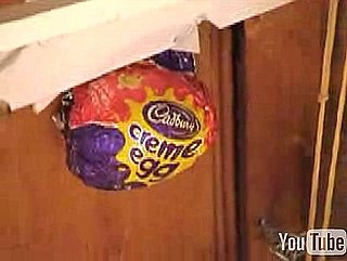 Rube Goldberg Machine Smashes a Cadbury Egg