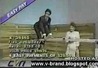 QVC Salesman Falls While Demonstrating Product