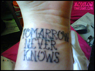 Tomarrow Never Knows
