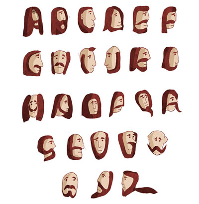 Beard Alphabets and More!