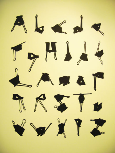 Office clip alphabet.