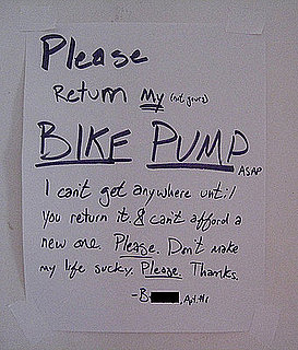 The Sad Ballad of the Missing Bike Pump