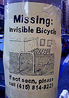Missing Invisible Bike Sign