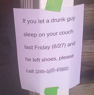 Drunk Guy Needs His Shoes