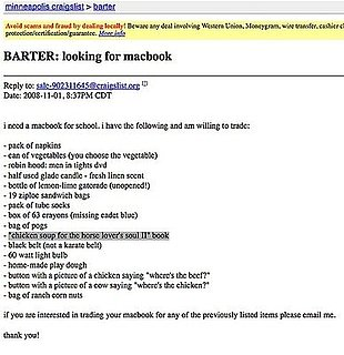 Craigslist Delivers the Weird, Again