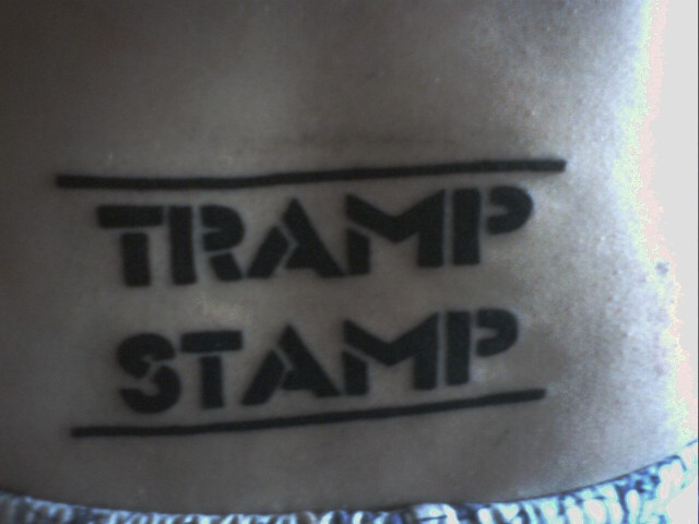 Look, a Clever Tramp Stamp!