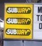 Uninformative Subway Sign