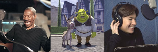 Mike Myers as Shrek/Eddie Murphy as Donkey (Shrek)