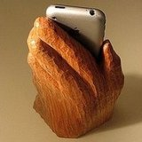 Wooden Hand iPhone Holder