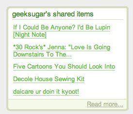 Geek Tip: Show Off Shared Google Reader Posts on Your Blog