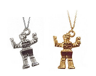 Robot Charm Necklace Is From Space and Beyond Collection By NYC's Pretty Little Things