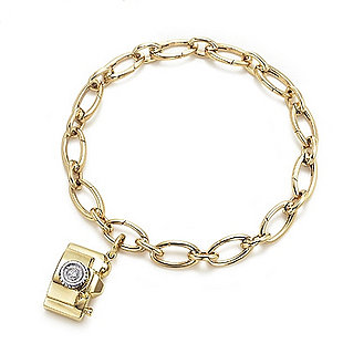 Tiffany & Co.'s Gold and Diamond Camera Charm Bracelet