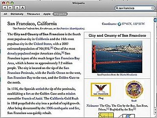 Geek Tip: Get Wikipedia Access From Mac's Dictionary Application!