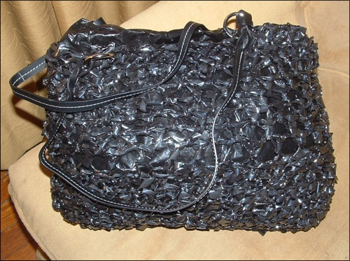 Crocheted VHS Tape Bag. . . Enough Said