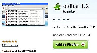 OldBar Restores Your Firefox 2 Location Bar