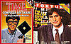 Vintage Magazine Covers Feature Bill Gates and Steve Jobs