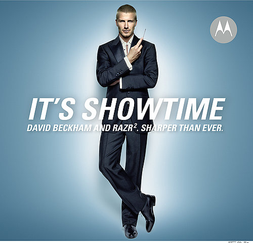 Becks Lends His Physique To Sharp RAZR2 Ads