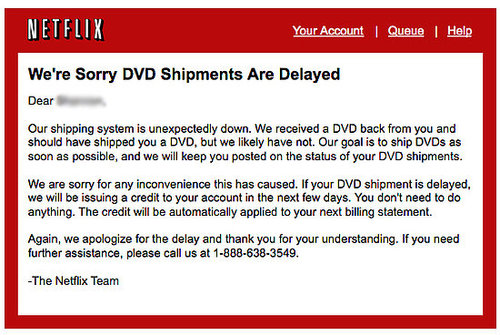 Netflix Apologizes for Service Outage