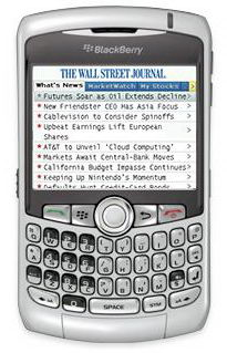 Read the WSJ on Your BlackBerry For Free