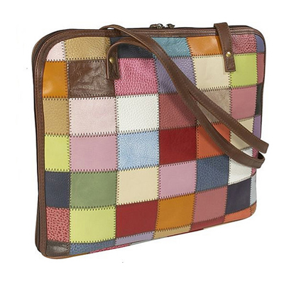 Latico Leather Patchwork Laptop Bag