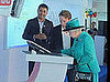 Queen Elizabeth II Visits Google in London